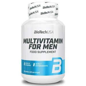 BioTechUSA MULTIVITAMIN FOR MEN 60 Tabletten Vitamin Präparat