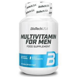 BioTechUSA MULTIVITAMIN FOR MEN 60 Tabletten Vitamin Präparat