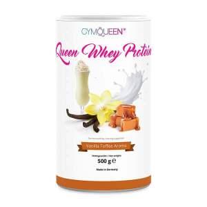 GymQueen Queen Whey Vanille-Toffee 500 g Dose. Queen Whey online kaufen. Spezielles Eiweißpulver für Frauen zum Abnehmen, Diäten. Queen Whey Vanille kaufen