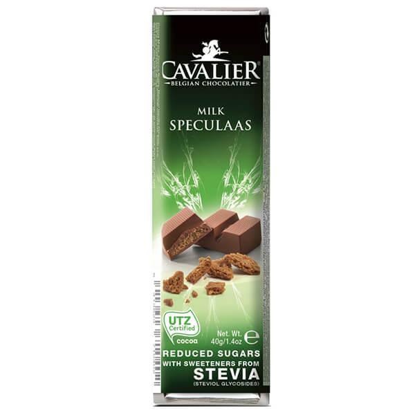 Cavalier Stevia Schokoriegel Spekulatius 40 g mit Stevia