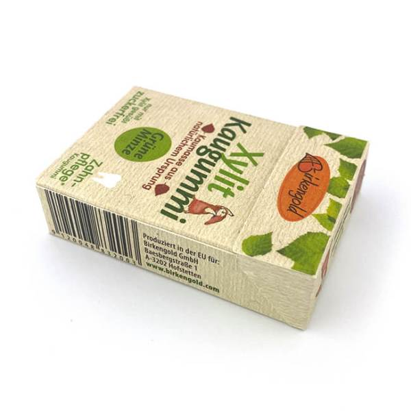 Birkengold Xylit Kaugummi Grüne Minze nur 2,56 kcal pro Gum!