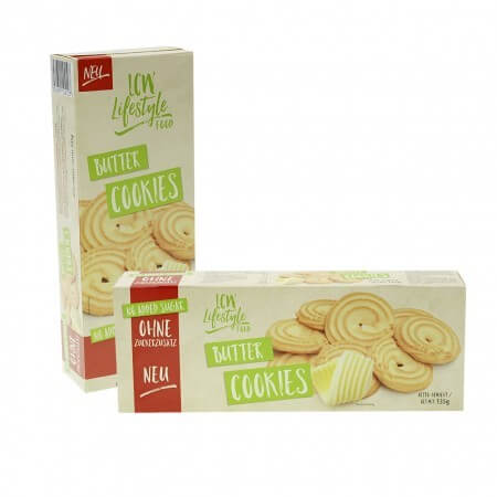 LCW Cookies Kekse ohne Zucker Zusatz Butterkekse 135 g online kaufen. Zucker reduzierte Kekse von LCW kaufen. Ohne Zucker, gesüßt mit Maltit!