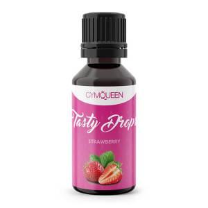 GymQueen Tasty Drops Erdbeere 30 ml kaufen. GymQueen Flavour Drops kaufen. OHNE Kalorien, Zucker, Fett, KH, uvm. Flavour Drops online kaufen!