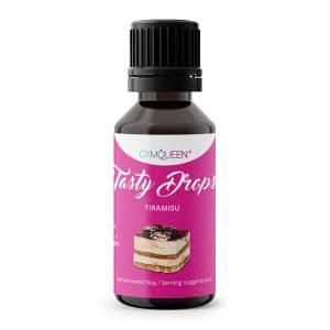 GymQueen Tasty Drops Tiramisu 30 ml kaufen. GymQueen Flavour Drops kaufen. OHNE Kalorien, Zucker, Fett, KH, uvm. Flavour Drops online kaufen!