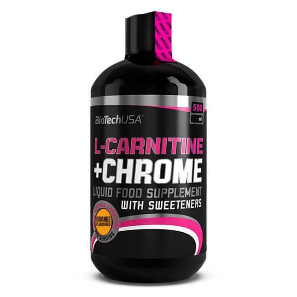 BioTech USA L-Carnitine + Chrome Getränk Orange 500 ml Flasche kaufen. Getränk - 1050 mg L-Carnitin und 150 mcg Chrom von BioTech USA kaufen!
