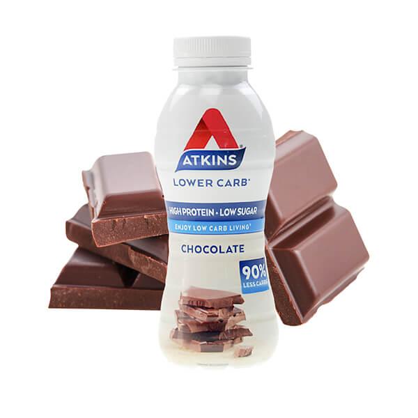 Atkins Ready to Drink Proteinshake Schokolade 330 ml. Trinkfertiger Proteingenuss mit leckerem Schokoladen-Geschmack. High Protein!