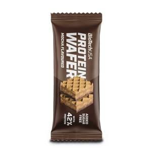 BiotechUSA Protein Wafer Proteinwaffel MOCHA Kaffeegeschmack 35 g. Hoher Proteingehalt vereint mit köstlichen Waffeln. High Protein!