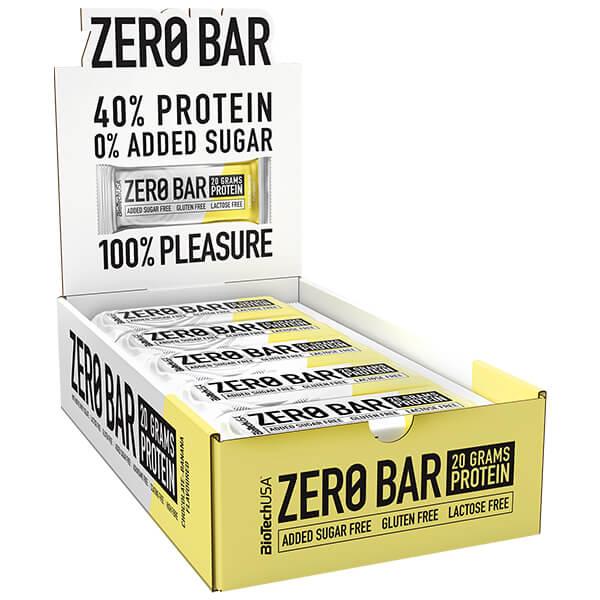 Biotech USA Zero Bar Schokolade Banane Proteinriegel 20 x 50 g