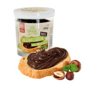 LCW Haselnusscreme dark ohne Zuckerzusatz 200 g. Köstliche Creme mit Haselnüssen ohne Zuckerzusatz. Köstliches, herbes Schoko-Nuss-Aroma.
