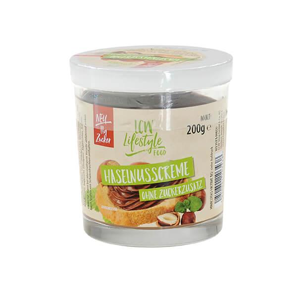 LCW Haselnusscreme ohne Zuckerzusatz 200 g. Köstliche Creme mit Haselnüssen ohne Zuckerzusatz. Köstliches Schoko-Nuss-Aroma.