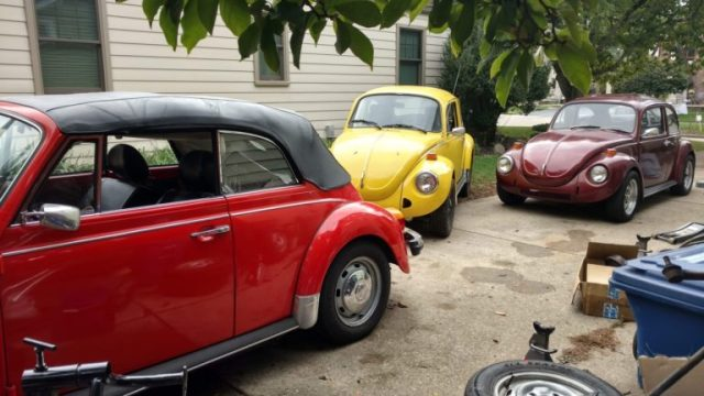 Way too many Beetles in one driveway