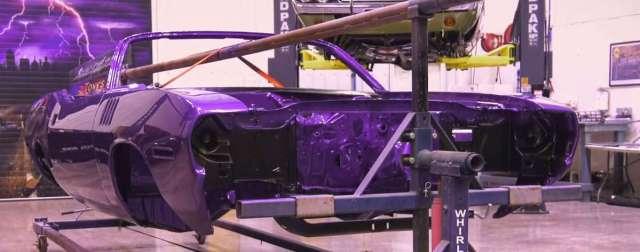 1971 Plymouth 'Cuda Convertible In Violet color