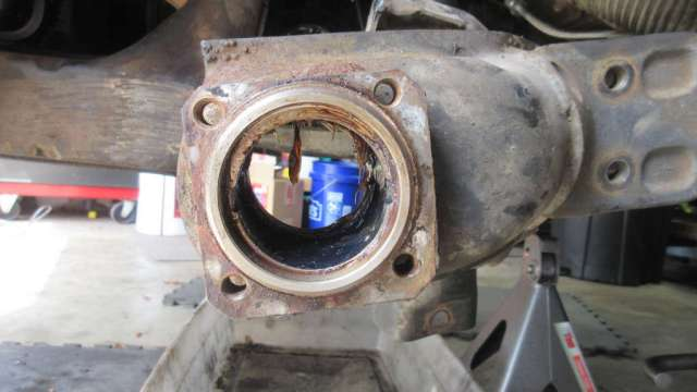 1979 VW Beetle - Passenger Side - Wheel Bearings Removed