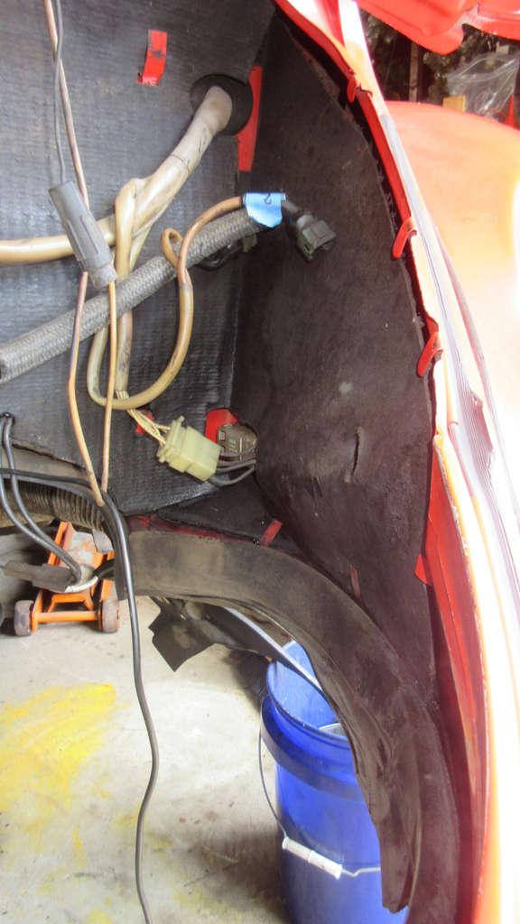 1979 VW Beetle - Engine Bay Tar Board