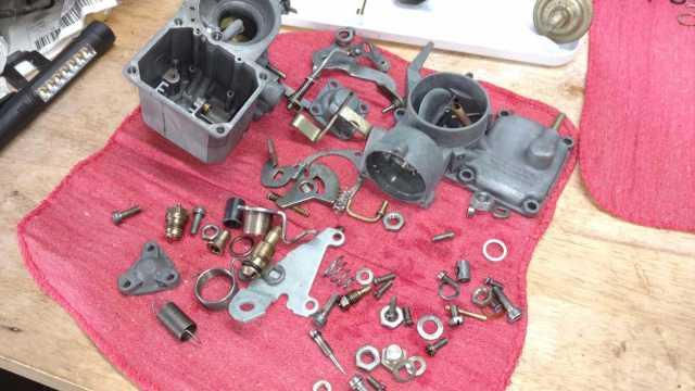 Solex 34 Pict 3 carb disassembled