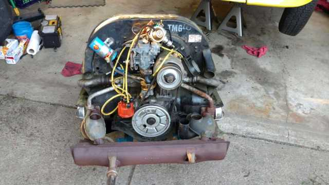 1974 Super Beetle - Engine dropped