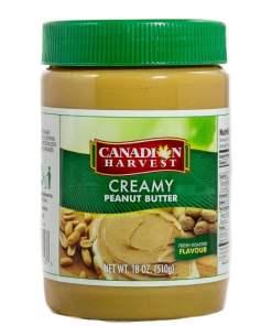 4be3ccbdc7fc19b5c43e1e9a753f64ae - Canadian Harvest Peanut Butter Creamy Jar 510g