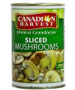 610e1c32e8c325d62dd1b7918657bcc4 - Canadian Harvest Sliced Mushrooms 425g
