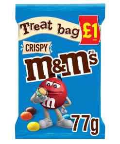 MMs Crispy Chocolate Treat Bag 77g v - M&M's Crispy Chocolate Treat Bag 77g