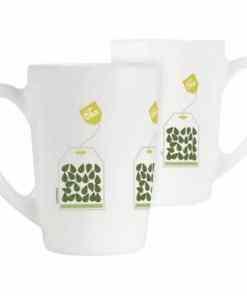 New Morning green tea 1 - Luminarc New Morning Mug 32cl Green Tea Leave R6 - 6pcs-P8839