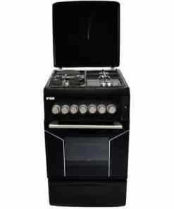 Von Hotpoint F5N31E2.BLK .E VAC5F031PK 3 Gas 1 Electric Cooker Black 1 - Von  3 Gas + 1 E electric Oven 50cm x 60cm F5S31E2.E.B