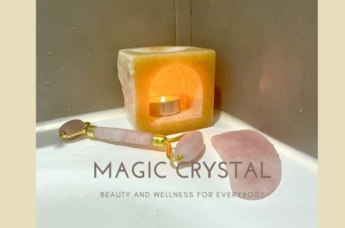Crystal facial roller