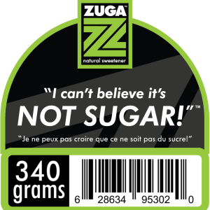 Zuga Erythritol sugar replacement 340g pouch