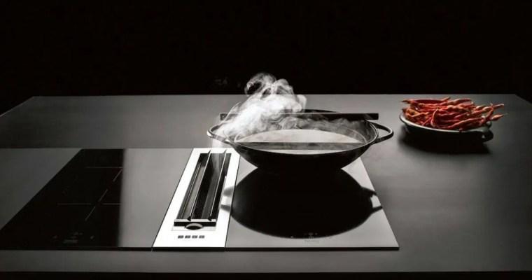 Futuristischer Muldenlüfter macht Kochdunst den Garaus