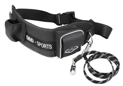 D&d hondenriem sports walker reflecterend grote hond zwart