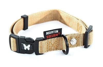 Martin sellier halsband nylon beige verstelbaar