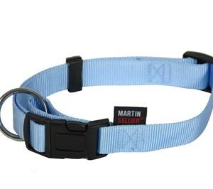 Martin sellier halsband basic nylon blauw