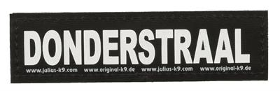 Julius k9 labels voor power-harnas/tuig donderstraal