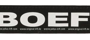 Julius k9 labels voor power-harnas/tuig boef