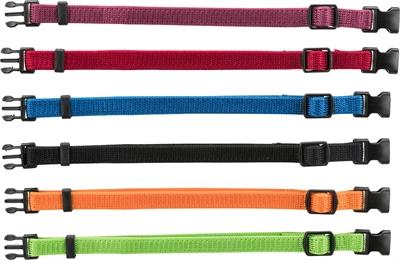 Trixie puppy halsband set rood / groen / geel / paars / blauw / zwart