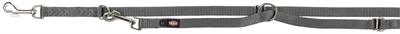 Trixie hondenriem premium verstelbaar nylon grafiet grijs