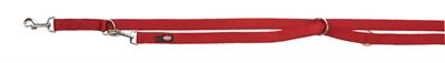 Trixie premium hondenriem dubbelgestikt verstelbaar rood