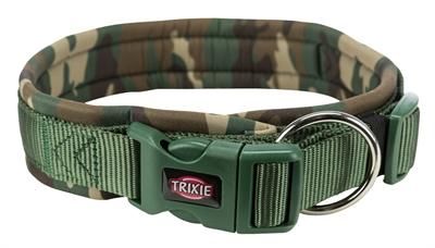 Trixie premium halsband hond neopreen camouflage groen