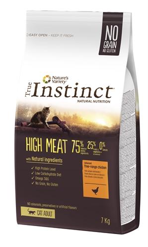 True instinct high meat free range chicken