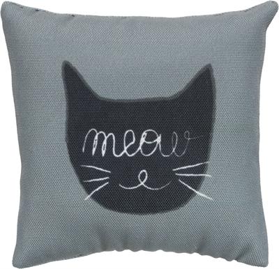 Trixie speelkussen meow stof met catnip