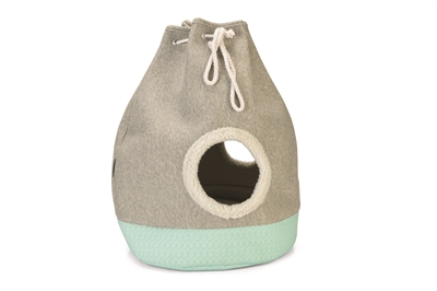 Beeztees kitten kattenhuis flo grijs