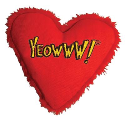Yeowww hart met catnip rood