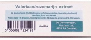 Dierendrogist valeriaan/rozemarijn