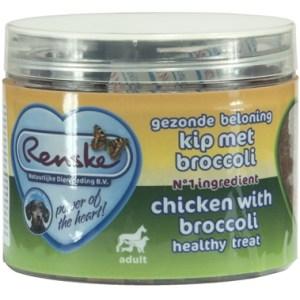 Renske hond gezonde beloning mini hartjes kip / broccoli
