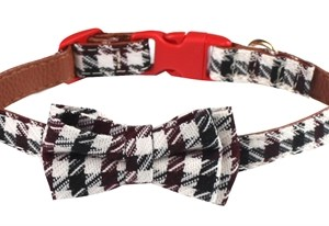 Croci halsband hond bordeaux braid