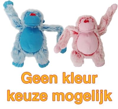 Harige aap roze/blauw