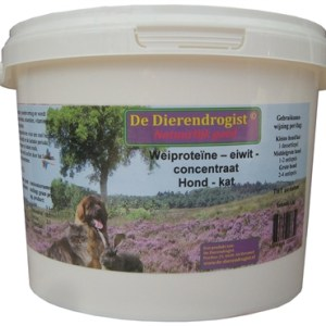 Dierendrogist wei proteine eiwit concentraat hond/kat