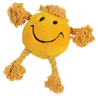 Happy pet happy faces pluche smiley geel
