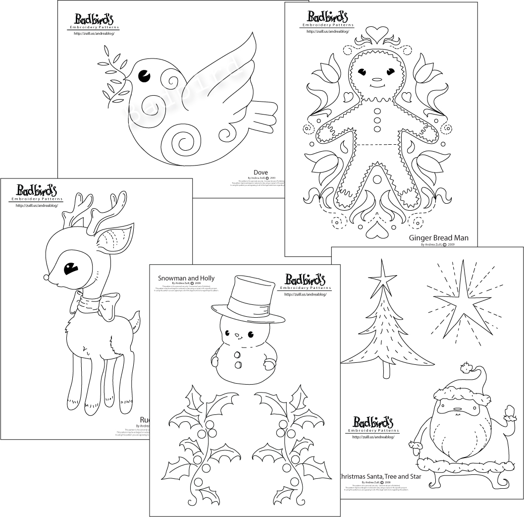 New Christmas Embroidery Pattern Set Andrea Zuill S Blog