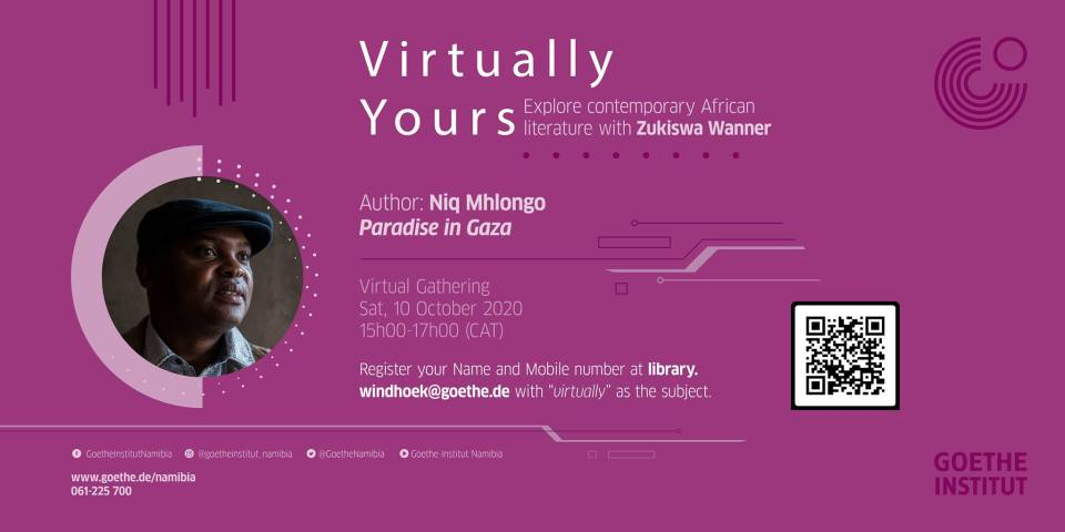 October 10: Virtually Yours with Niq Mhlongo