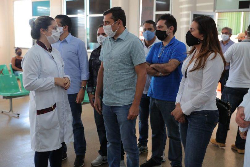 Wilson Lima visita hospital de Humaitá e reforça atenção ao interior durante a pandemia | Foto: Diego Peres